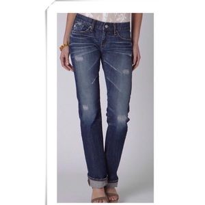 AG Adriano Distressed Tomboy Boyfriend Fit Jeans
